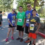 10 year old survivor with his family prepare for the run