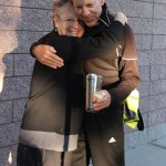 Barb Bohm-Becker and Gary hug